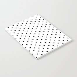 Minimal - Small black polka dots on white - Mix & Match with Simplicty of life Notebook