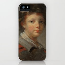 A Boy in a Red-lined Cloak by Jean-Honoré Fragonard iPhone Case