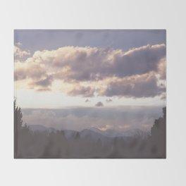 Rocky Mountain Lavendar Throw Blanket