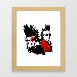 Beethoven Mozart Punk Composers Framed Art Print