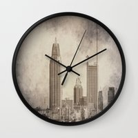 alabama Wall Clocks featuring Mobile, Alabama by Judith Lee Folde Photography & Art