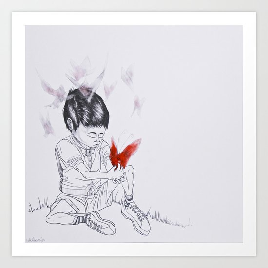 Como Una Mariposa (Like a Butterfly) Art Print