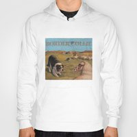 border collie Hoodies featuring Border Collie by Jeff Crosby