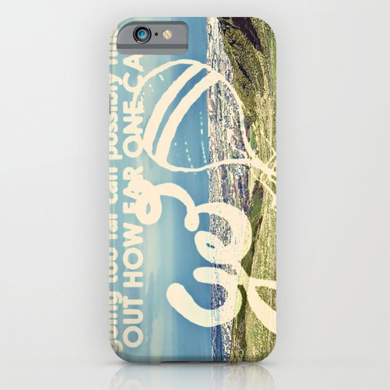 Adventure Quote, hot air balloon iPhone & iPod Case