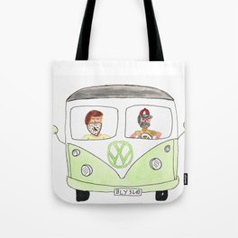 A green ride Tote Bag