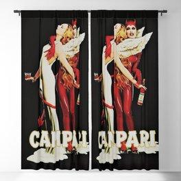 Vintage Campari Italian Bitters Aperitif Angel and Devil Advertisement Poster Blackout Curtain