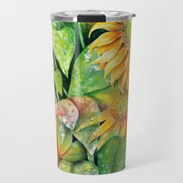 Colorful Sunflowers Travel Mug