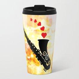 Sax and Love Travel Mug
