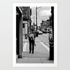 Life In a Guitar Town Art Print