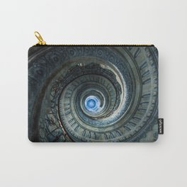 Decorated spiral staircase in blue tones Carry-All Pouch