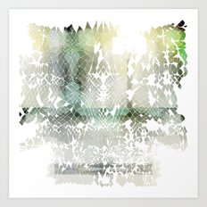 Fractured Silver Art Print