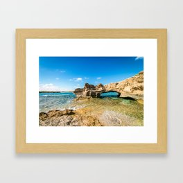 Grotto seascape Framed Art Print