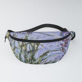Claude Monet  -  Iris Mauves Fanny Pack