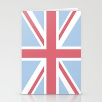 union jack Stationery Cards featuring Union Jack by Alesia D