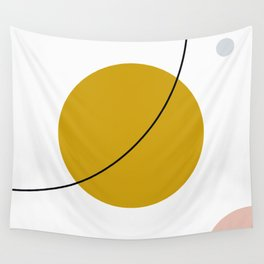 SPACCE 01// Geometric Pastel Minimalist Illustration Wall Tapestry