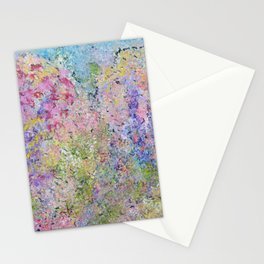 Spring Hydrangeas, Pastel Abstract, Modern Painting Stationery Cards