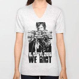 If Daryl Dies We Riot Unisex V-Neck