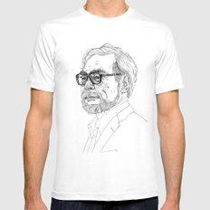 Hayao Miyazaki Mens Fitted Tee White LARGE