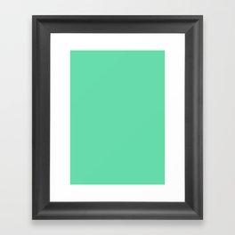 Medium aquamarine Framed Art Print
