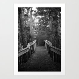 Burn a Bridge Art Print