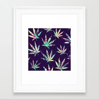 cannabis Framed Art Prints featuring Merry Cannabis by GypsYonic