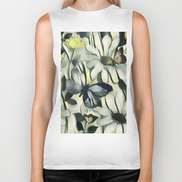 Spring Delight - Flowers And Butterflies Biker Tank