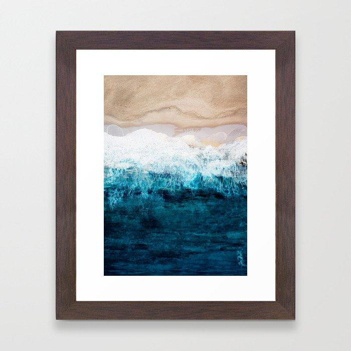 Watercolour Summer beach III Framed Art Print