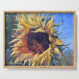 Good Morning Sunflower — Provence, France Serving Tray