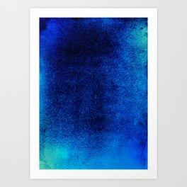 Sapphire Sea Art Print