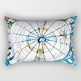 Glass stain mosaic 5 - circle Rectangular Pillow