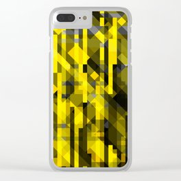 abstract composition in yellow and grays Clear iPhone Case