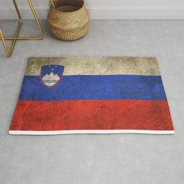 Old and Worn Distressed Vintage Flag of Slovenia Rug