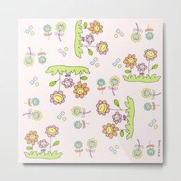 Spring flowers (Pink) Metal Print
