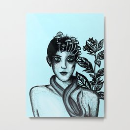 Blue Belladonna | Blue | Belladonna | Portrait | Art | Portrait Metal Print