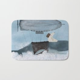 barney and the whale Bath Mat