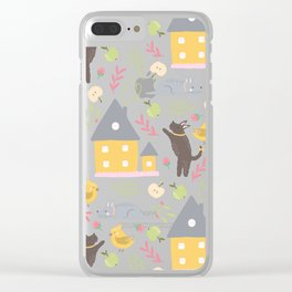 friendly pattern Clear iPhone Case