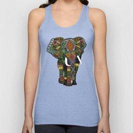 floral elephant teal Unisex Tank Top