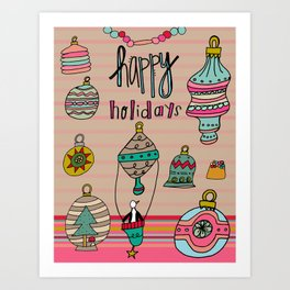 Holiday Ornaments Galore.  Art Print