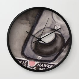 Brownie Hawkeye Watercolor Painting Wall Clock