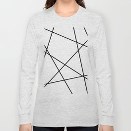 Lines in Chaos II - White Long Sleeve T-shirt