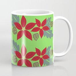 Winter/Christmas - Flowers And Leaves Coffee Mug