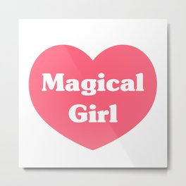 Heart Magical Girl Metal Print