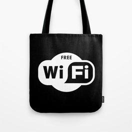 Free WiFi Here Tote Bag