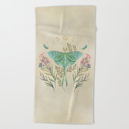 Luna and Forester - Oriental Vintage Beach Towel