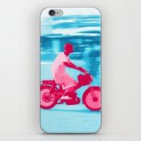 motorbike iPhone & iPod Skins featuring Motorbike Guy by Sergio Silva Santos