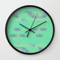 plaid Wall Clocks featuring Plaid by flo.still