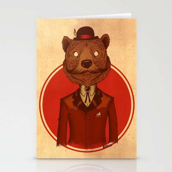 {Bosque Animal} Oso Stationery Cards