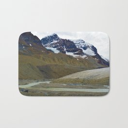 Athabasca Glacier in the Columbia Icefields, Jasper National Park Bath Mat