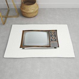Old Television Set Rug