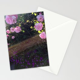 Pink roses and sunshine Stationery Cards